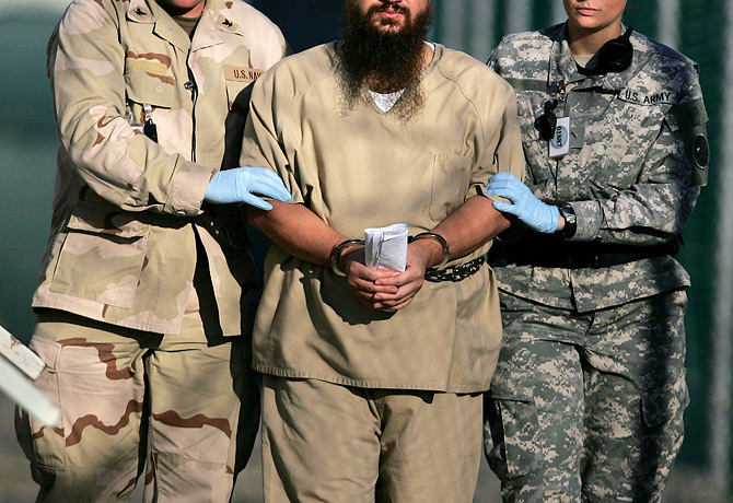 Captured Enemy Combatant at Guantanamo Bay Detention Camp