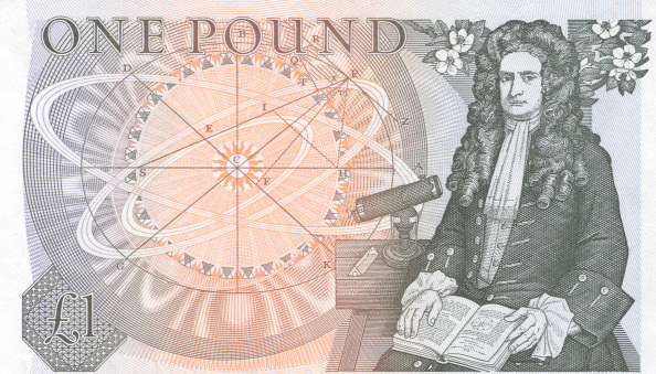 Isaac Newton on the One Pound note