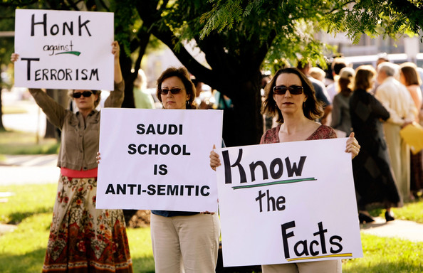 Protests against the Islamic Saudi Academy in Virginia USA